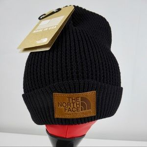 North Face Made in USA Wool Waffle Knit Beanie Hat